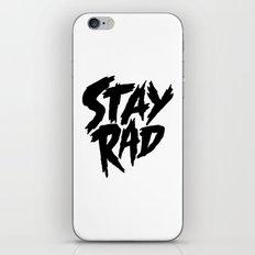 Stay Rad (on White) iPhone & iPod Skin