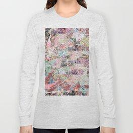 San Antonio map flowers Long Sleeve T-shirt