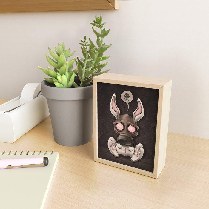 Toxic Bunny Framed Mini Art Print