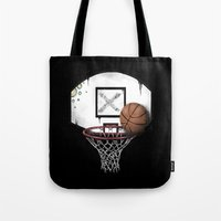 basketball Tote Bags featuring basketball by Penfishh