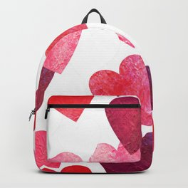 Pink Grungy Hearts Backpack