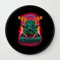 cthulhu Wall Clocks featuring CTHULHU by Gerkyart.