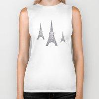 paris Biker Tanks featuring Paris by sinonelineman