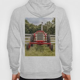 IH 240 Red International Farmall Tractor Front View Hoody