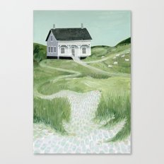 Cottage on the beach Canvas Print