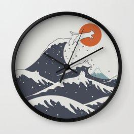 Cat Landscape 55C Wall Clock