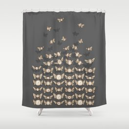 Time Flutters Shower Curtain