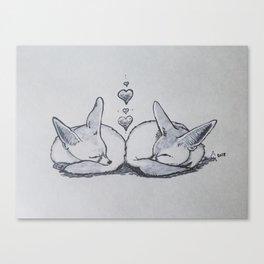 Fox Nap Canvas Print