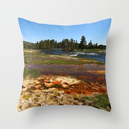 Firehole River Colors Throw Pillow