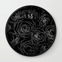 Black White Abstract Wall Clock