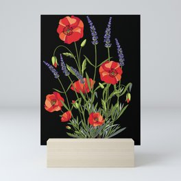 Poppies & Lavendar Mini Art Print