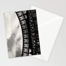 Black Lace of Eiffel Tower Stationery Cards