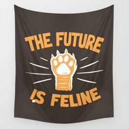 THE T/ME /S MEOW Wall Tapestry