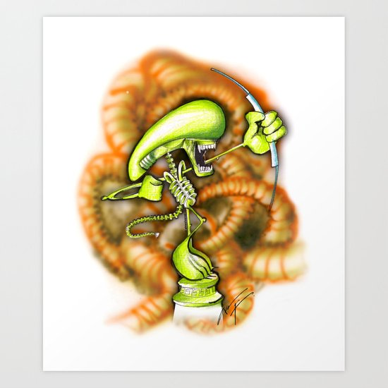 ALIEN HUNTER (sketch) Art Print