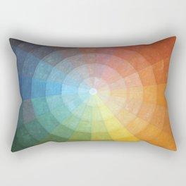 Color Wheel Quilt Rectangular Pillow
