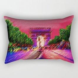 Arc de Triomphe, Paris France Landscape by Jeanpaul Ferro Rectangular Pillow