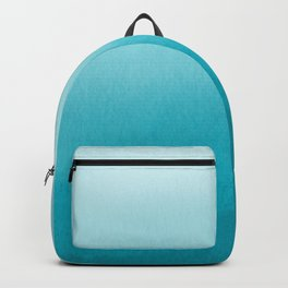 Teal and White Watercolor Abstract Art Gradient Backpack