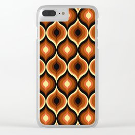 Brown Eye Abstract Pattern Clear iPhone Case
