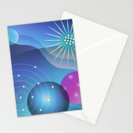 Planetary Party Stationery Cards
