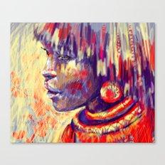 African portrait Canvas Print