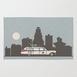 Ghostbusters Ecto-1 Rug