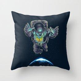 Butterstellar Throw Pillow