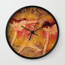 Edgar Germain Hilaire Degas Bowing Dancers 1885 Wall Clock