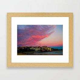 Bondi Beach Sunset night Framed Art Print