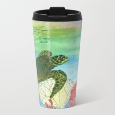 Sea Turtle Shores Metal Travel Mug