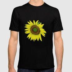 Sunflower painted  Black MEDIUM Mens Fitted Tee