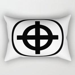 Sun Cross Wheel Cross Martial Heathen symbols Rectangular Pillow