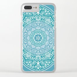 The Ocean Mandala Clear iPhone Case