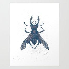 Deer Beetle Art Print
