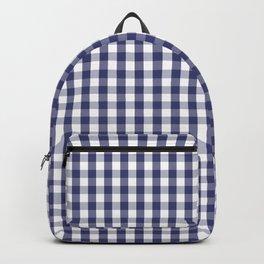 USA Flag Blue Large Gingham Check Plaid Backpack