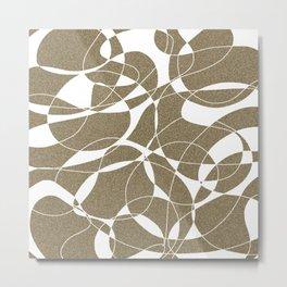 Abstract lines on the sand Metal Print