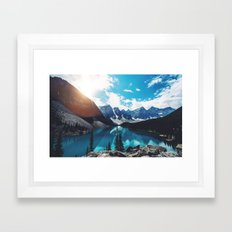 Lake Moraine Framed Art Print