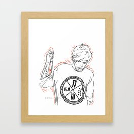 Louis - On The Road Again Framed Art Print