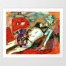 lISA-cHERRY-WEARIN-a-bIKINI Art Print