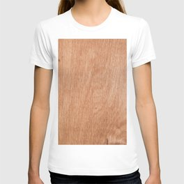 Abstract pastel brown rustic wood texture T-shirt