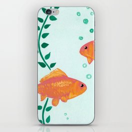 Goldfish Watecolor iPhone Skin