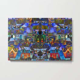 Town houses abstract Metal Print