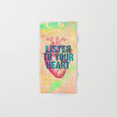 Listen To Your Heart Hand & Bath Towel