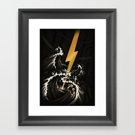 Electric Guitar Storm Framed Art Print