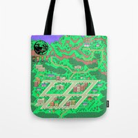 earthbound Tote Bags featuring Earthbound by Fred Vilair