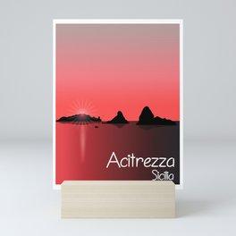 Acitrezza Travelposter Mini Art Print