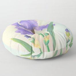 Wild Iris and Dragonfly Floor Pillow