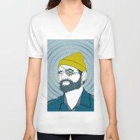 steve zissou V-neck T-shirts featuring Steve Zissou by Chelsea Kepner