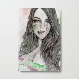 U-Turn (busty girl with mandala tattoos) Metal Print