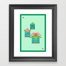 Green Family Framed Art Print
