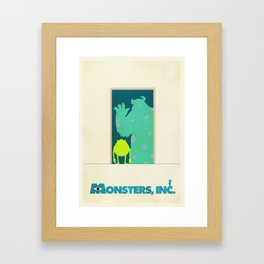 Monsters Inc. Framed Art Print